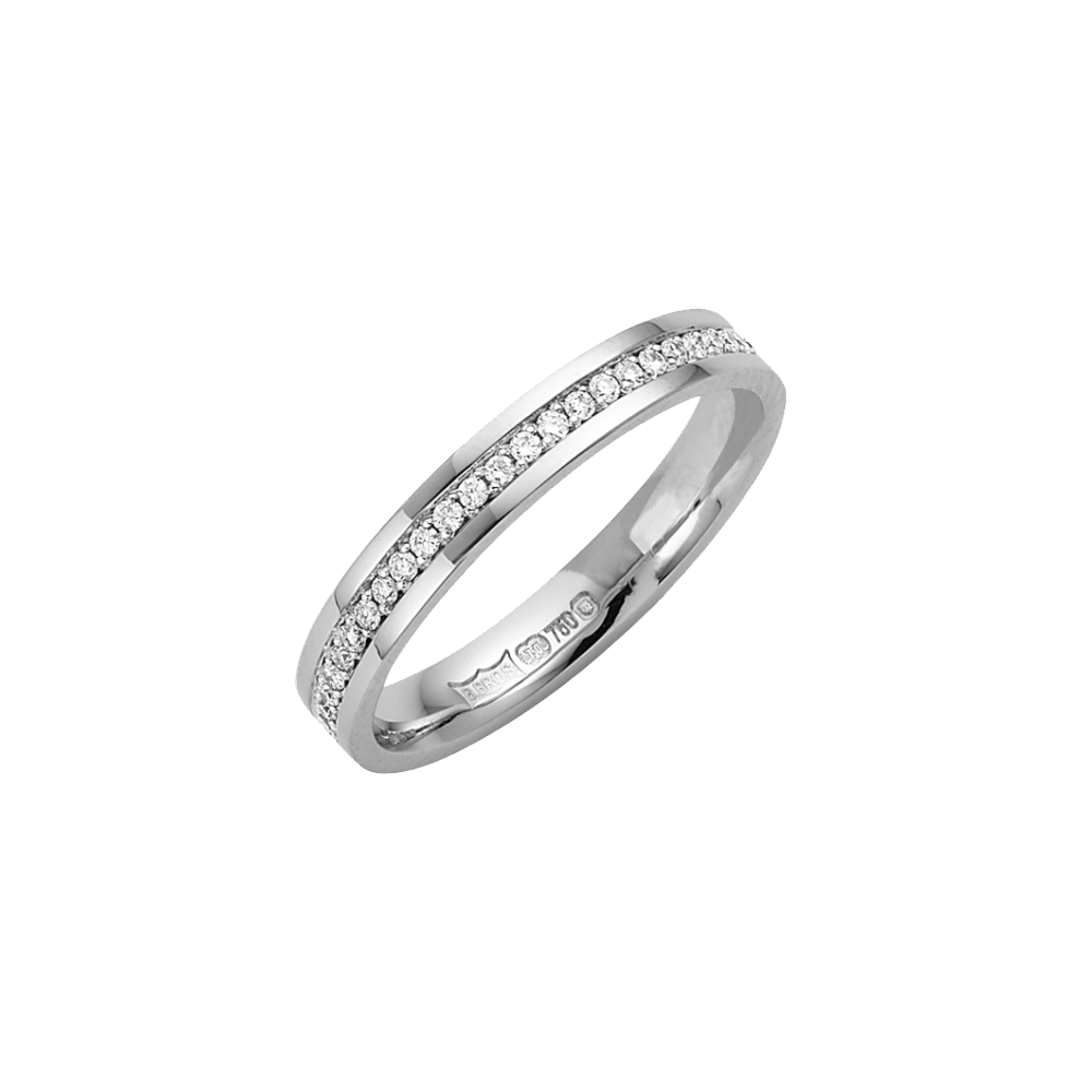 18kt White Gold 3mm 015ct Diamond Eternity Wedding Ring