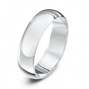 18ct White Gold Heavy D 5mm Wedding Ring
