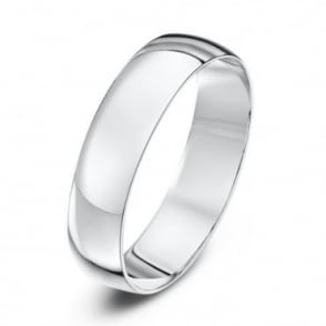 18ct White Gold Light D 5mm Wedding Ring