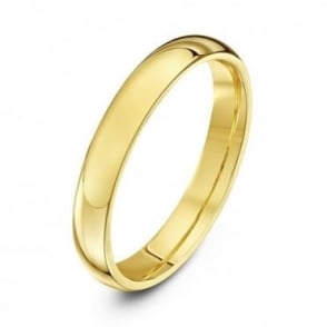 18ct Yellow Gold Heavy Court Shape 3mm Wedding Ring