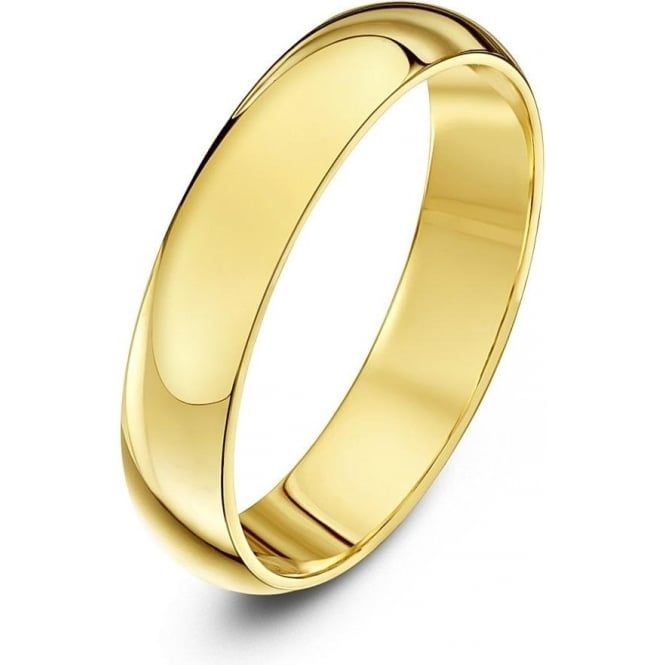 Star Wedding Rings 18ct Yellow Gold Heavy D 4mm Wedding Ring