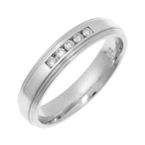 9ct White Gold Diamond 4mm Eternity Ring