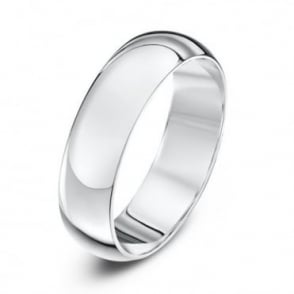 9ct White Gold Heavy D 5mm Wedding Ring