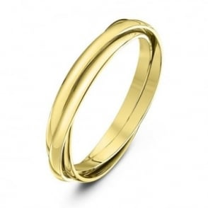 9ct Yellow Gold 2mm Russian Wedding Ring