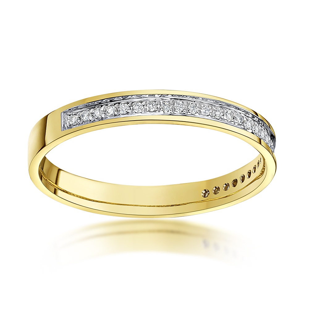 gold gitter bands product rose set bezel jewelers reuven band wedding diamond eternity