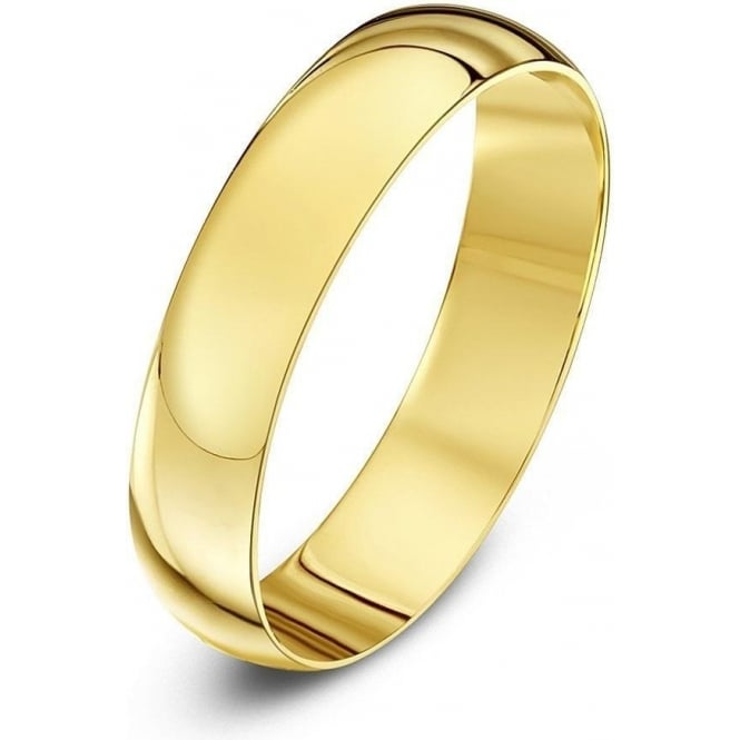 Star Wedding Rings 9ct Yellow Gold Light D 4mm Wedding Ring
