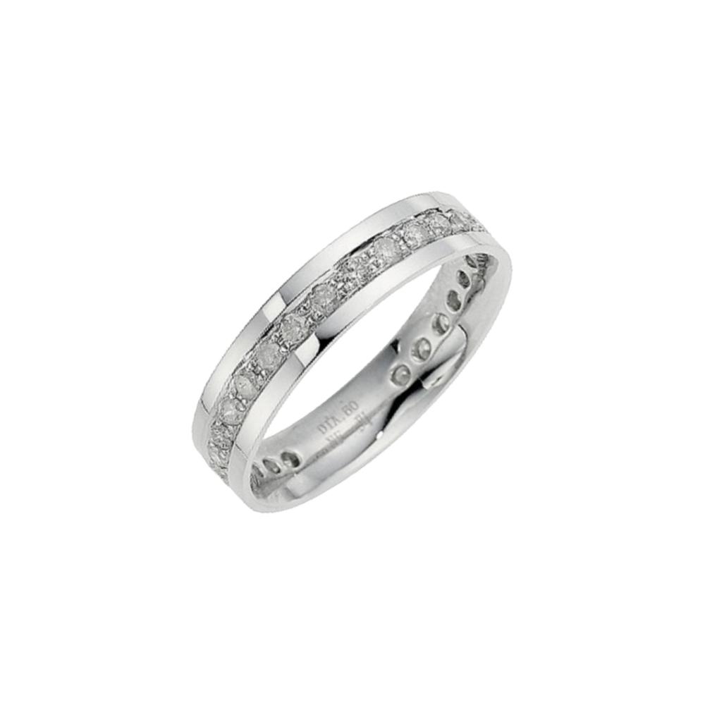 9kt White Gold Diamond 45mm Eternity Wedding Ring