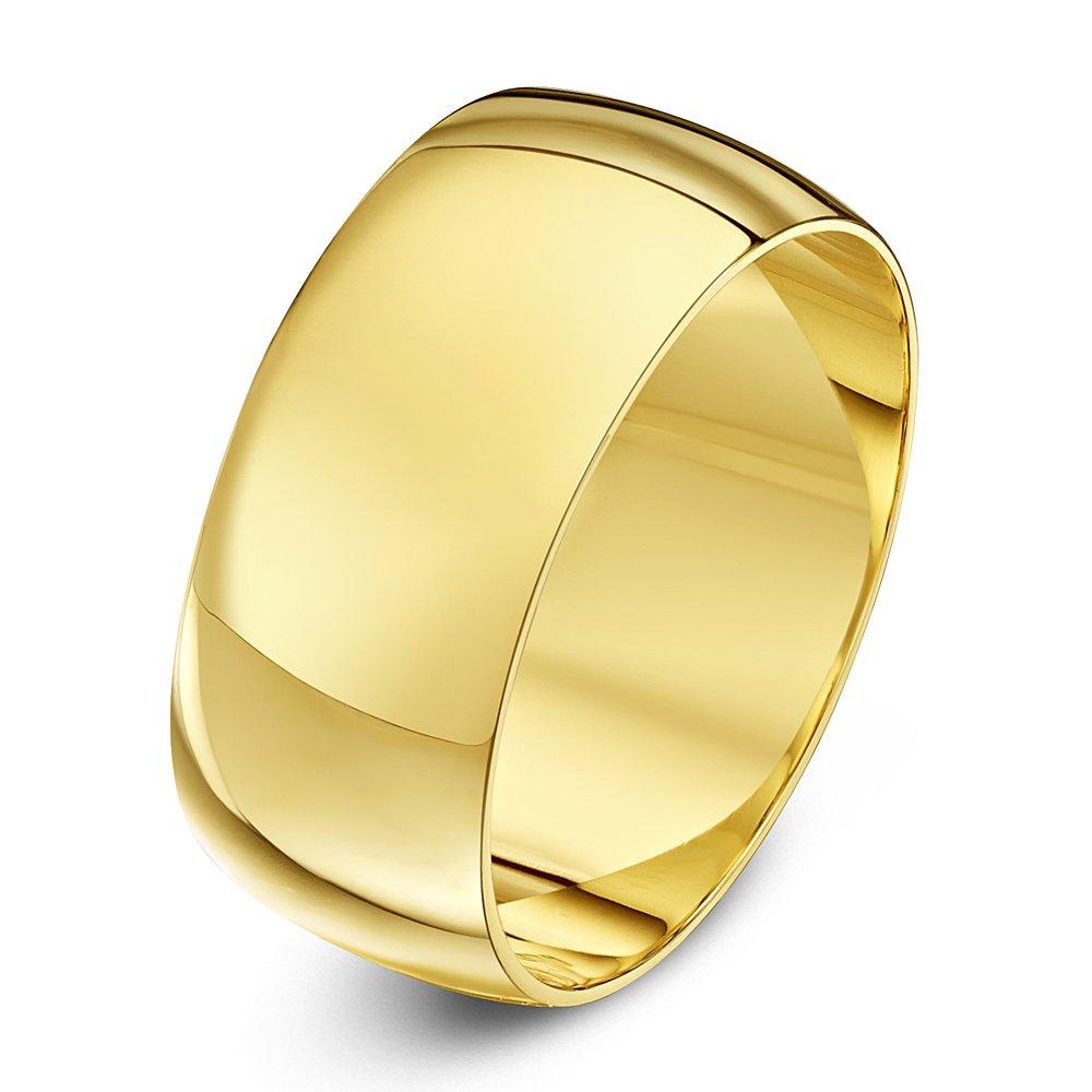 9kt yellow gold heavy d 9mm wedding ring