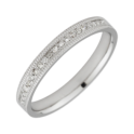 Star Wedding Rings 18ct White Gold  0.1ct  Diamond  3mm Eternity Ring