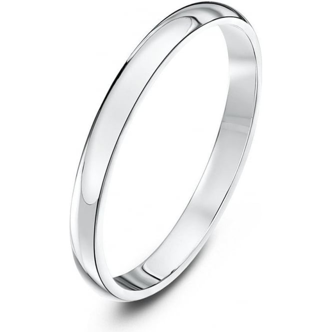 Star Wedding Rings 18ct White Gold Heavy D 2mm Wedding Ring