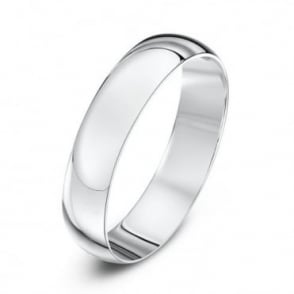 18ct White Gold Light D 4mm Wedding Ring