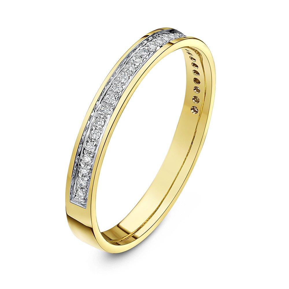 Star Wedding Rings 18ct Yellow Gold 3mm Round 015 Carat Diamond Eternity  Wedding Ring