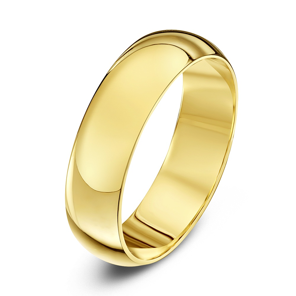 18kt Yellow Gold Extra Heavy D 5mm Wedding Ring