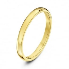 18ct Yellow Gold Heavy Court Shape 2mm Wedding Ring