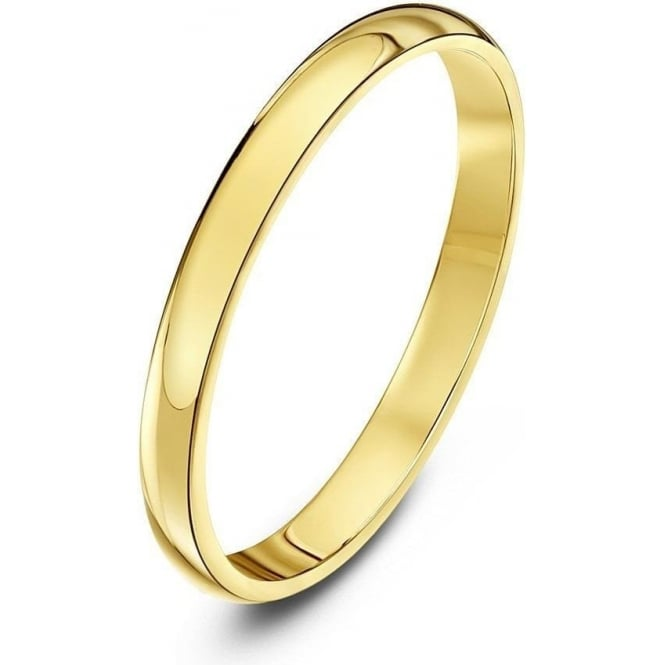 Star Wedding Rings 18ct Yellow Gold Heavy D 2mm Wedding Ring