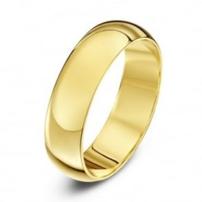 18ct Yellow Gold Heavy D 5mm Wedding Ring