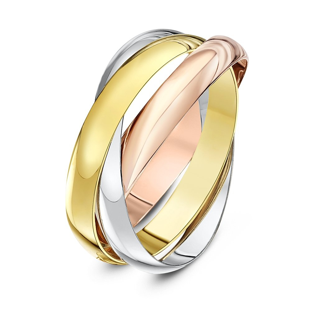 9kt three colour gold 3mm russian wedding ring for Wedding ring companies