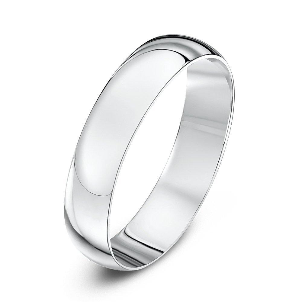 9kt White Gold Light D 4mm Wedding Ring