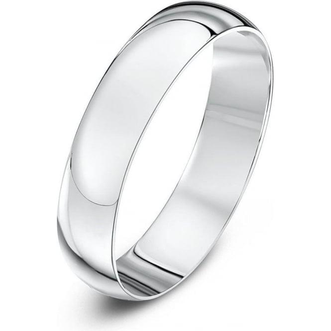 Star Wedding Rings 9ct White Gold Light D 4mm Wedding Ring