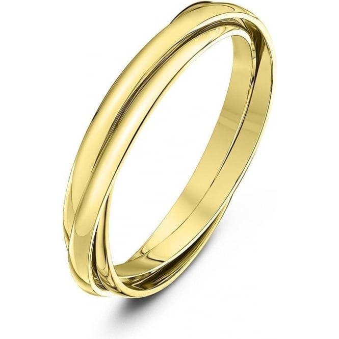 Star Wedding Rings 9ct Yellow Gold 2mm Russian Wedding Ring