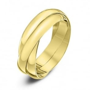 9ct Yellow Gold 3mm Russian Wedding Ring