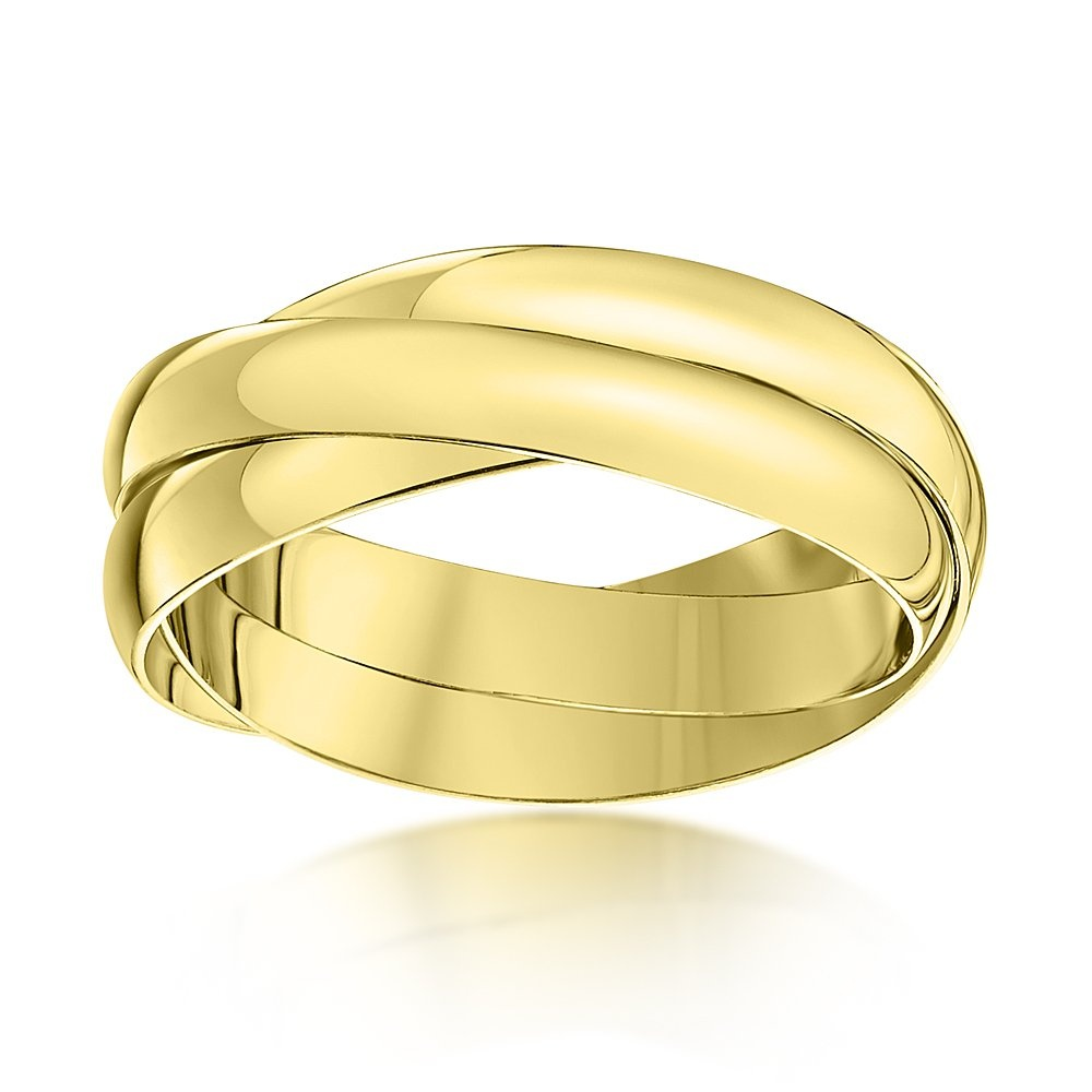 9kt yellow gold 3mm russian wedding ring