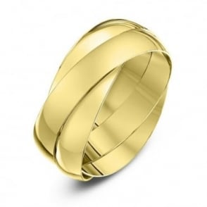 9ct Yellow Gold 4mm Russian Wedding Ring