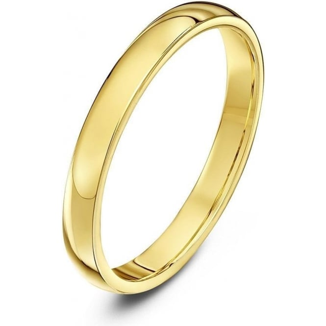 Star Wedding Rings 9ct Yellow Gold Heavy Court Shape 2.5mm Wedding Ring