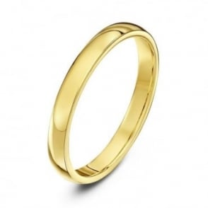 9ct Yellow Gold Heavy Court Shape 2.5mm Wedding Ring
