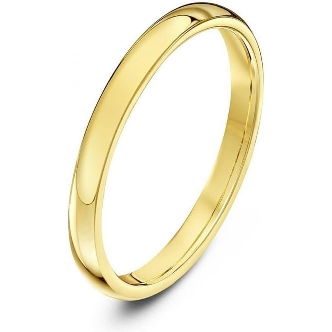 Star Wedding Rings 9ct Yellow Gold Heavy Court Shape 2mm Wedding Ring
