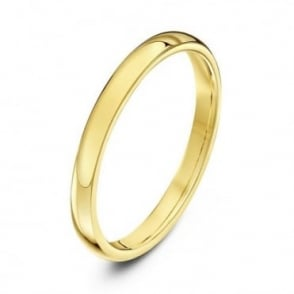 9ct Yellow Gold Heavy Court Shape 2mm Wedding Ring
