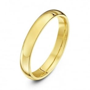 9ct Yellow Gold Heavy Court Shape 3mm Wedding Ring