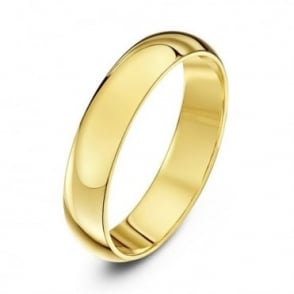 9ct Yellow Gold Heavy D 4mm Wedding Ring