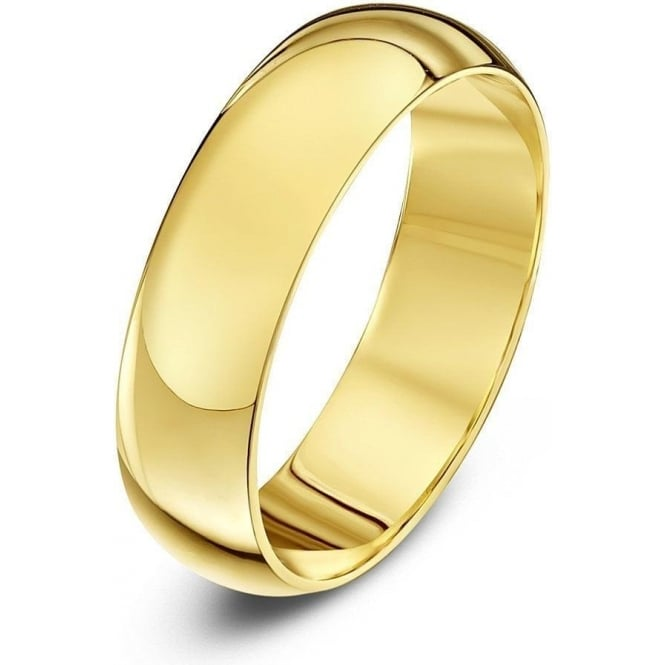 Star Wedding Rings 9ct Yellow Gold Heavy D 5mm Wedding Ring