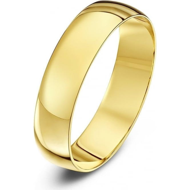 Star Wedding Rings 9ct Yellow Gold Light D 5mm Wedding Ring