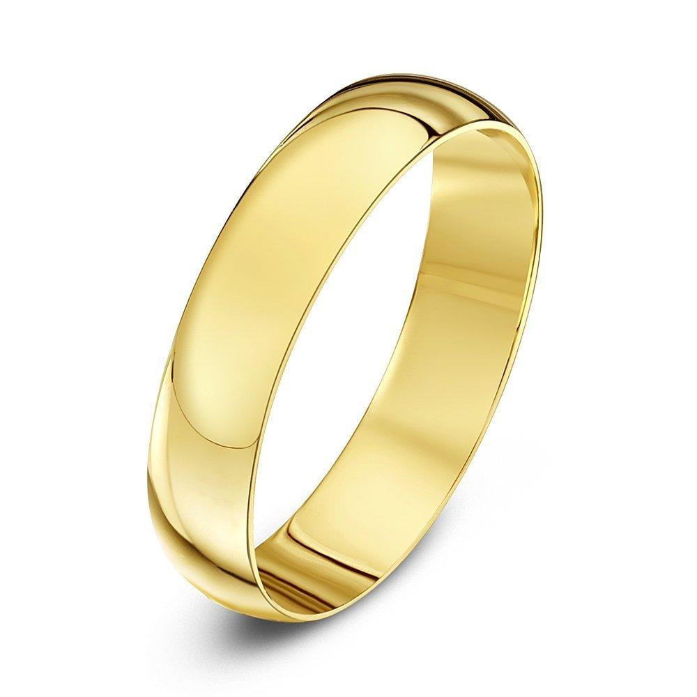 9kt yellow gold light d 3mm wedding ring