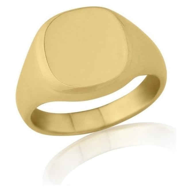 Star Wedding Rings Cushion-Shaped 9ct Yellow Gold Extra-Heavy Weight Signet Ring