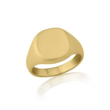 Cushion-Shaped 9ct Yellow Gold Extra-Heavy Weight Signet Ring
