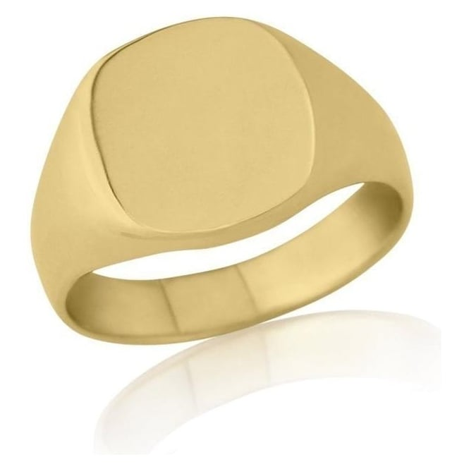 Star Wedding Rings Cushion-Shaped 9ct Yellow Gold Heavy Weight Signet Ring
