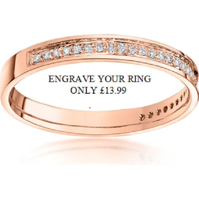 Star Wedding Rings Engrave your Ring