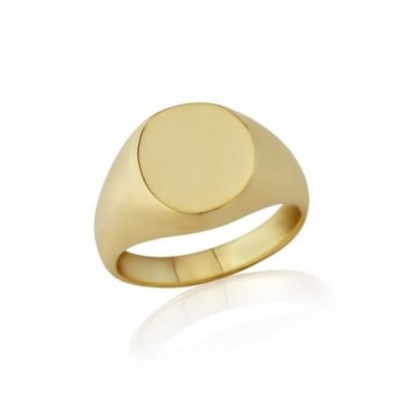 Oval-Shaped 9ct Yellow Gold Extra-Heavy Weight Signet Ring