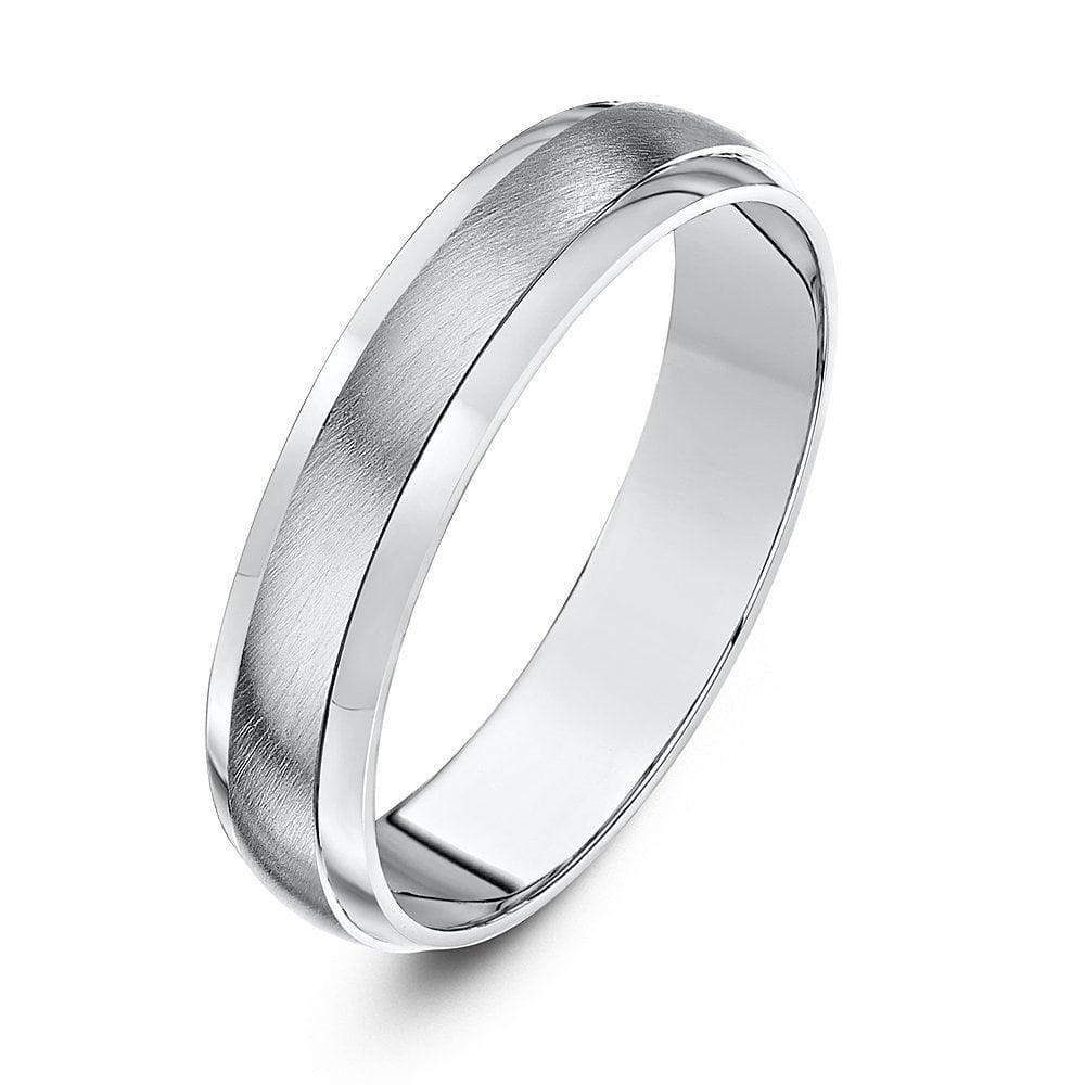 na sprzedaż online kody promocyjne Kod kuponu Star Wedding Rings Palladium 950 Heavy D Matt Centre 5mm Wedding Ring