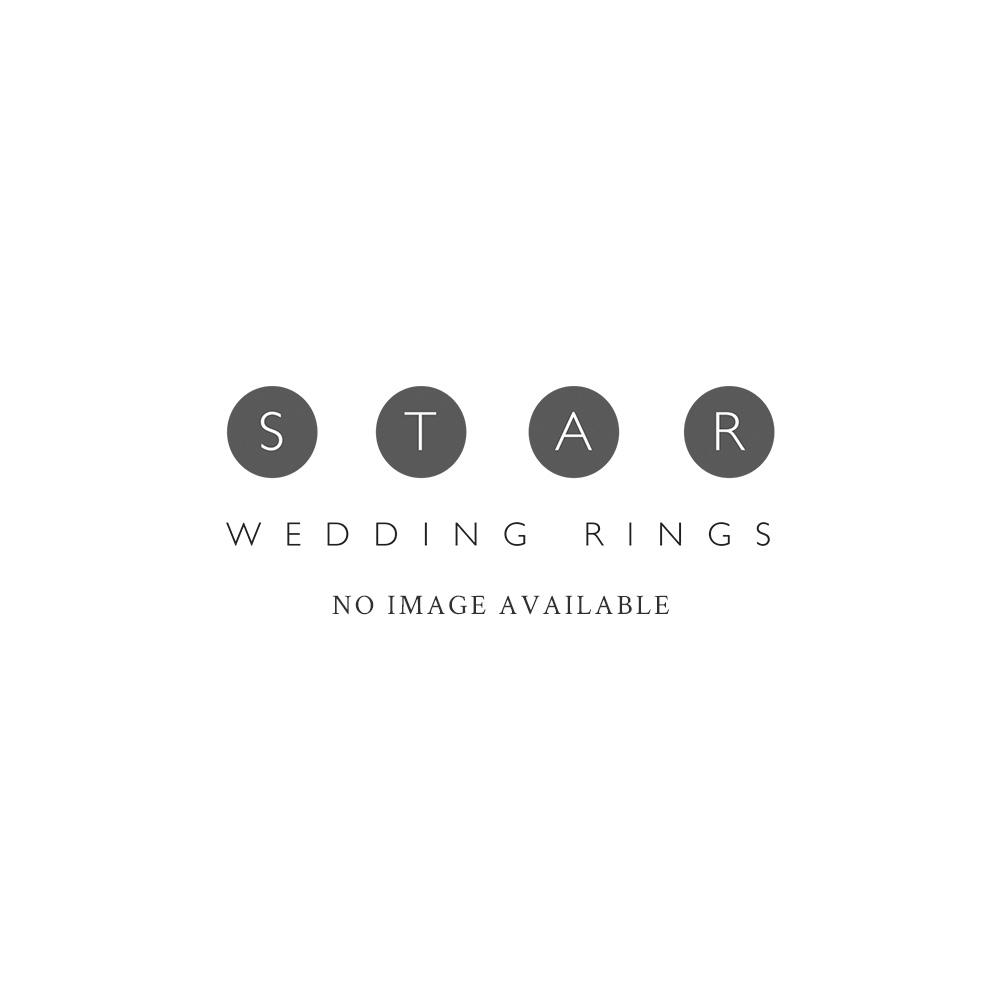 silver flat court crisscross 5mm wedding ring