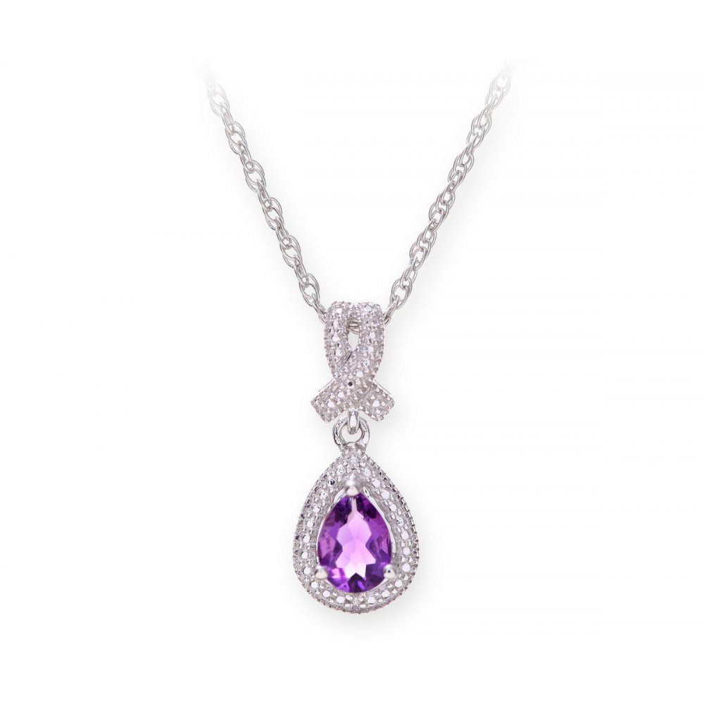 hexagonal crystal prism store unique pendant natural purple stone products necklace chic accessories chain