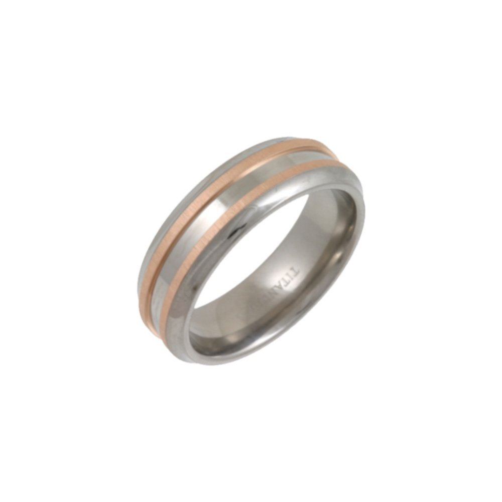 Titanium Rings With Gold Inlay