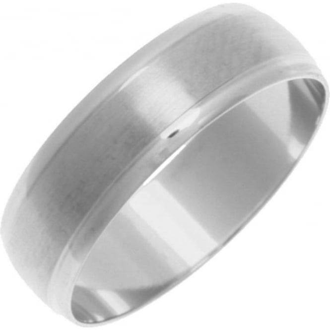 Star Wedding Rings Titanium Court Shape Matt Center 7mm Ring