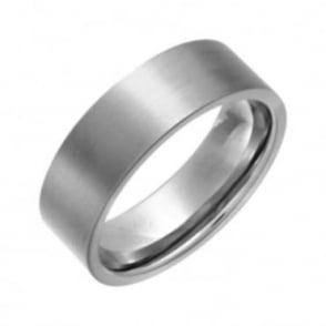 Titanium Flat Court Shape 6/7mm Matt Wedding Ring