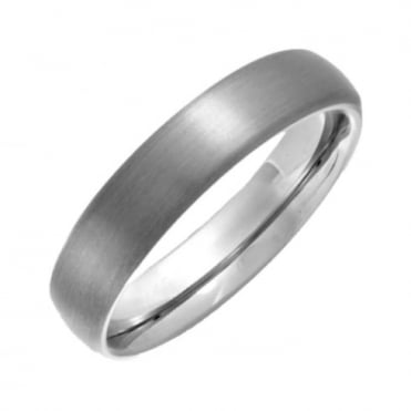Titanium Matt  5mm Court Shape Wedding Ring