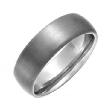 Titanium Matt 7mm Court Shape Wedding Ring