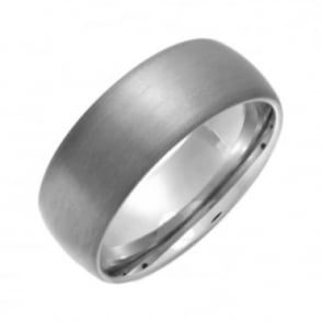 Titanium Matt 8mm Court Shape Wedding Ring